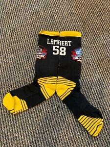 JACK LAMBERT PITTSBURGH STEELERS DRI FIT HALL OF FAME SOCKS TOP OF THE LINE