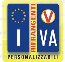 ADESIVI BLU RIFRANGENTI PER TARGA AUTO EUROPEA CON SIMBOLO VARESE E PROVINCIA