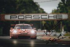 Christensen, Estre Hand Signed Porsche 911 12x8 Photo 2018 Le Mans 2.