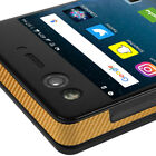 Skinomi TechSkin - Gold Carbon Fiber Skin & Screen Protector for ZTE Axon M