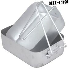 MIL-COM 2 PIECE ALUMINIUM MESS TIN SET  ARMY CAMPING FISHING COOKING COOKWARE