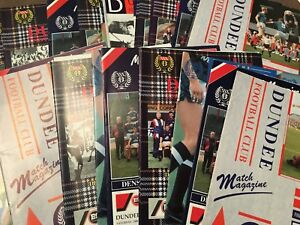 Dundee HOME programmes 1980's 1990's 2000's League & Cup (larger issues)
