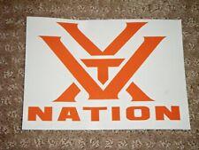 1 Orange Vortex Nation Decal(Look)
