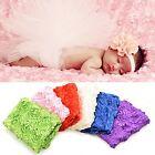 Zjskin Newborn Baby Photography Photo Props 3D Rose Flower Backdrop Beanbag Blan