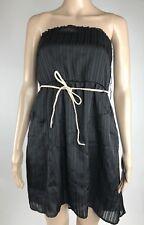 Volcom Dress Medium Womens Black Strapless Tube Pockets Sail To The Stone $55