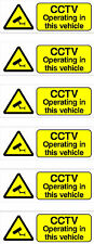 6 x CCTV OPERATING IN THIS VEHICLE STICKERS FREE P+P car taxi bus van.