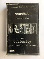 THE CURE - CONCERT : THE CURE LIVE and CURIOSITY - Chrome Cassette - RARE