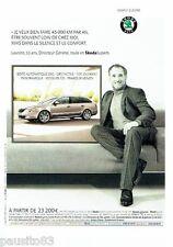 PUBLICITE ADVERTISING 116  2011  Skoda  Superb combi Praha Laurent