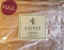 Vintage Ralph Lauren Blush Full Flat Sheet