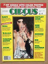 Vintage Original March 1986 Circus Magazine 'Stephen Pearcy' Ratt
