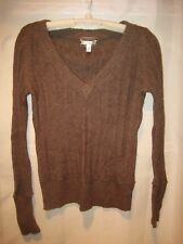 Aeropostale Chocolate Angora Rabbit Hair Knit Long Sleeve Sweater Juniors Large