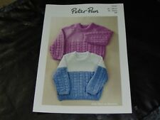 PETER PAN Double Knitting Pattern P1321 Sweater and Polo Shirt