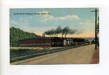 Apollo PA Armstrong County, Steel Company, industrial view, tracks, smokestacks