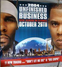 JAY Z R. KELLY UNFINISHED BUSINESS 2004 VINTAGE BIG RAP MUSIC STORE PROMO POSTER