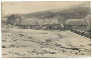 POSTCARDS-SCOTLAND-DALMALLY-PTD. The Cottages in Winter, Stronmilchan.