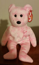 Ty Beanie Baby ~ SUPPORT the Breast Cancer Awareness Bear ~ MINT with MINT TAGS