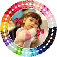40pcs 3 Inch Grosgrain Ribbon Hair Bows Alligator Clips for Baby Girls Toddlers