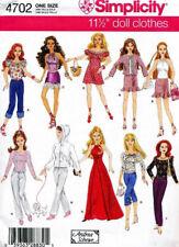 Hoodie Halter Pants Lolita Dress clothes Simplicity PATTERN 4702 fit Barbie doll
