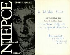 Odette Joyeux : Le troisième œil - La vie de Nicéphore Niepce - EO 1990 - Envoi