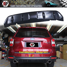 Rear Bumper Diffuser Bumper Lip 3D Carbon Look Fits 2014 2015 2016 FORESTER