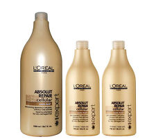 Loreal Absolut Repair Shampoo 1x 1500ml- 2x 750ml Conditioner