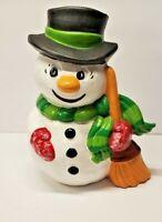 Vintage Snowman Ceramic Gare Inc 1976