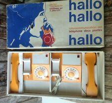 VINTAGE ELECTRONIC TOY TELEPHONES INTERCOMS / HALLO Intercommunication Set RETRO