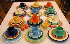 75 Pc Vintage Mid Century Fiesta Fiestaware Primary Colors Dinner Service for 12