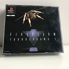 PS1 Playstation1 Firestorm Thunderhawk 2 dual case bigbox version complete