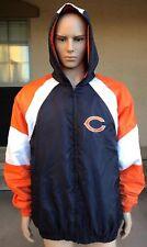 Vintage Chicago Bears Full Zip Hoodie Windbreaker Jacket G-III NFL Size XL
