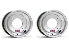 """DWT .190 Polished ATV Front Wheels Rims PAIR 10"""" 3+2 Honda 450R 400EX 250R 300EX"""