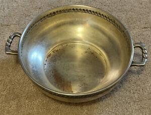 Vintage Silver Serving Bowl M595