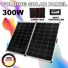 GISTA 300W 12V Folding Solar Panel Kit Camping Caravan USB Charging Controller