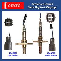 Denso Oxygen Sensor Up & Down Stream Set 2PCS. for 99-00 Toyota 4Runner 3.4L 4WD