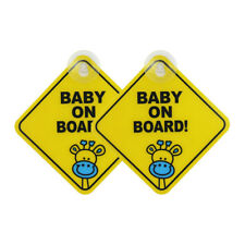 2pc Auto Warning Safety Suction Sticker Baby on Board Baby in Car Road Trip_GG Baby on board