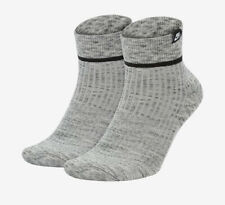 Nike Socks SNKR Sox Essential Ankle 2 Pack Grey Medium W6-10 M6-8 SX7167-012 New