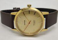 hmt sona gold plated hand winding men's wrist watch run order