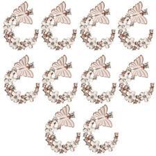 10pc Charms Enamel Butterfly Flower Flatback Buttons Craft DIY Wedding Dress
