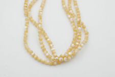 "4mm Smooth Round Shape Natural Mother of Pearl Shell bead, 15-16"" long sold by 3"