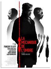 Affiche Pliée 40x60cm LA MÉCANIQUE DE L'OMBRE (2017) François Cluzet TBE