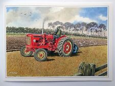 Nostalgic David Brown 950 Implematic Tractor Design Open Blank Birthday Card