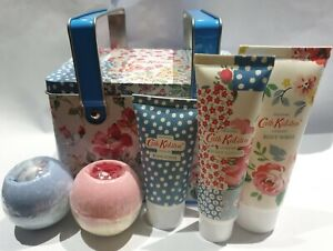 Cath Kidston Cottage Patchwork Pamper Picnic Tin Gift Set  Ideal  gift
