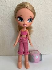 Girlz Girl Bratz Kidz Kid Cloe Doll Blonde Hair Blue Eyes Clothes Feet Radio