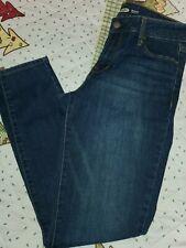Old Navy Rockstar Super Skinny Jeans Women Size 10 Medium Wash Blue Button Front