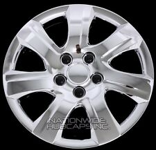 "16"" Set of 4 Chrome Wheel Covers Snap On Full Hub Caps fit R16 Tire & Steel Rim"