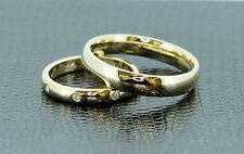 Band Very Good Cut Yellow Gold VVS1 Fine Diamond Rings
