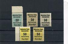 Deutsches Reich Mecklenburg-Pomm. Schmalspurbahn 1931-40 5 Werte ** (E-88)