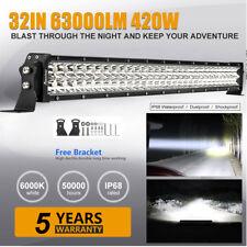 32 Inch 420W LED Light Bar Offroad Work Lamp Spot Flood Combo 4WD SUV Boat Truck