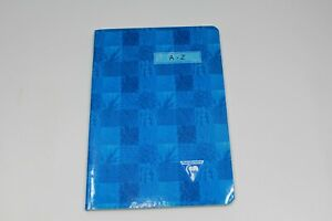 """Made in France by Clairefortaine 6"""" x 8.25"""" Blue Notebook w/ A-Z tabs Unused New"""