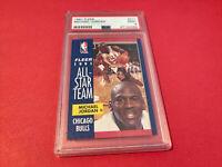 1991 Fleer Basketball Michael Jordan All-Star #211 PSA 9 MINT Graded Bulls Card